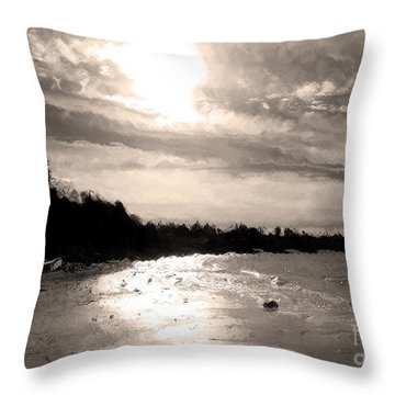 Dreamy Tides Throw Pillow