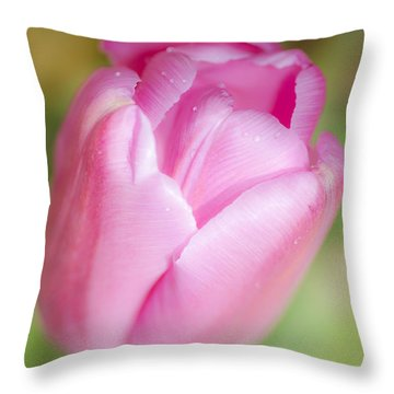 Dreamy Tulip Throw Pillow