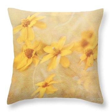 Dreamy Yellow Coreopsis Throw Pillow
