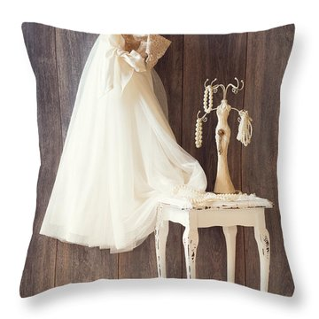 Dress Throw Pillow by Amanda Elwell