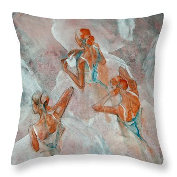 Dress Rehearsal Throw Pillow by Jani Freimann
