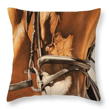Dressage And Details Throw Pillow