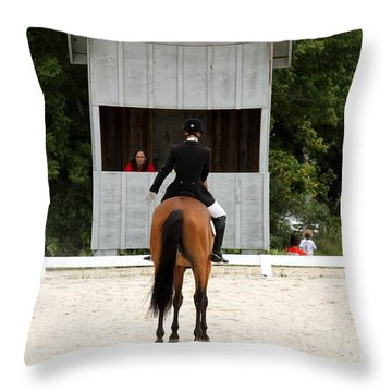 Dressage Salute Throw Pillow
