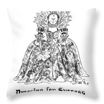 Dressing For Success 1558-1603 Throw Pillow