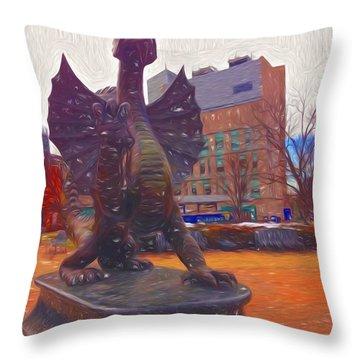 Drexel Dragon Colored Throw Pillow