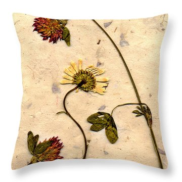 Dried Flowerrs 1 Throw Pillow