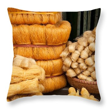 Dried Rice Noodles 01 Throw Pillow