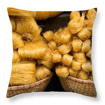 Dried Rice Noodles 02 Throw Pillow