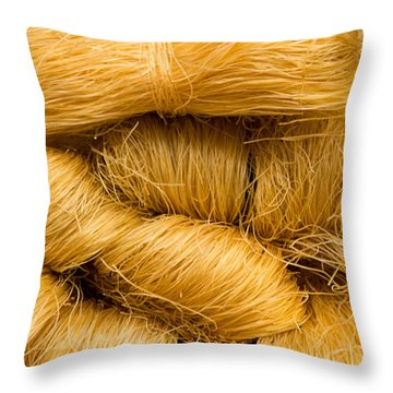Dried Rice Noodles 03 Throw Pillow