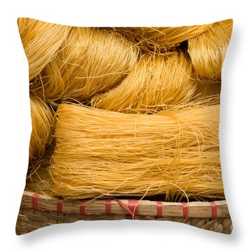 Dried Rice Noodles 04 Throw Pillow