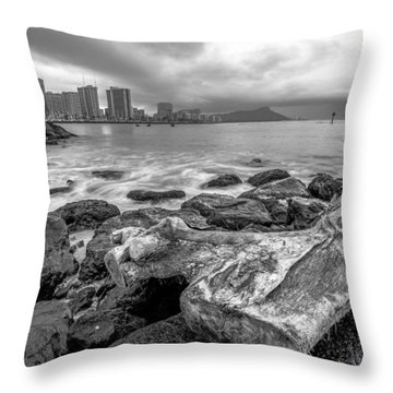 Throw Pillow featuring the photograph Drift Wood by Robert  Aycock