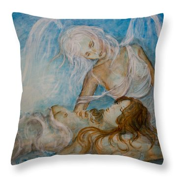 Drifting 01 Throw Pillow by Nik Helbig