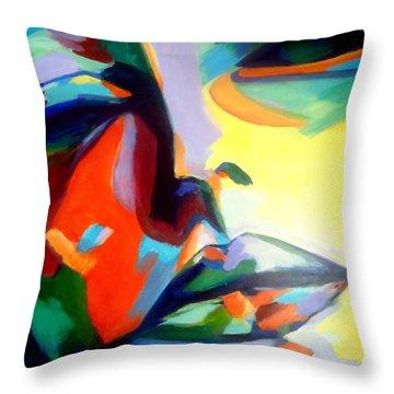 Drifting Into A Dream Throw Pillow by Helena Wierzbicki