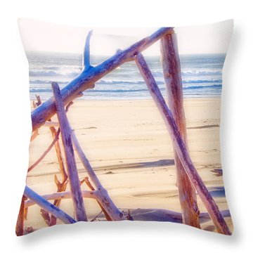 Driftwood 2 Throw Pillow by Adria Trail