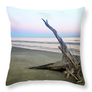 Driftwood At Dusk Throw Pillow by Phill Doherty