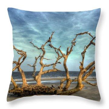 Driftwood Grove Throw Pillow by Greg and Chrystal Mimbs