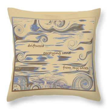 Driftwood Haiga Throw Pillow