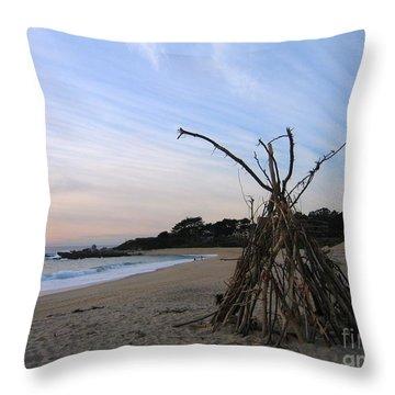Driftwood Tipi Throw Pillow