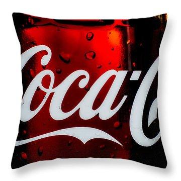 Drink Coca Cola Throw Pillow by Bob Orsillo