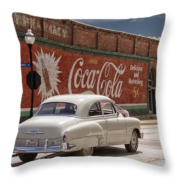 Drink Coca-cola Throw Pillow