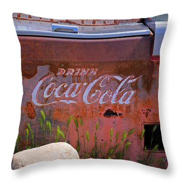 Drink Coca Cola Throw Pillow by Lynn Sprowl