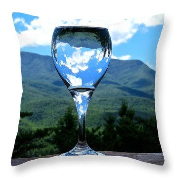 Drink In The View Throw Pillow by Rita Mueller