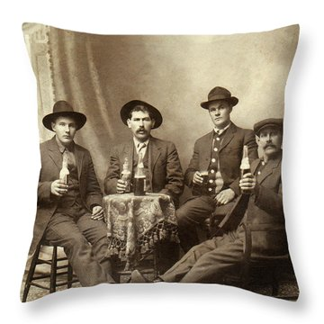Drinking Buddies Throw Pillow