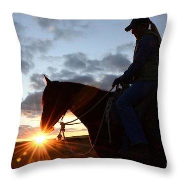 Drinking In The Light Throw Pillow by Bob Christopher