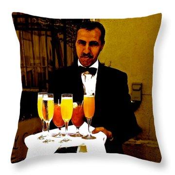 Drinks Anyone? Throw Pillow by Christy Gendalia