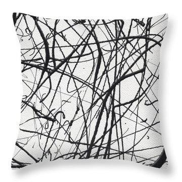 Drip Painting For Time's Up Throw Pillow