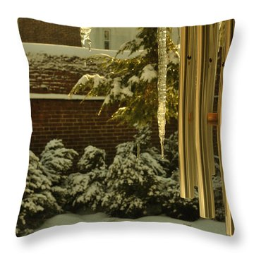 Dripping Icicles Throw Pillow
