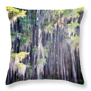 Dripping Moss Throw Pillow