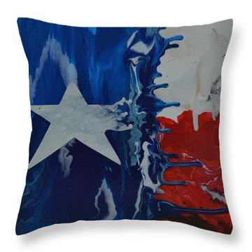 Drips Of Texas Color Throw Pillow