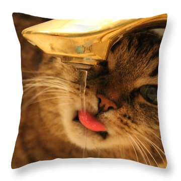 Drips On The Tongue Throw Pillow