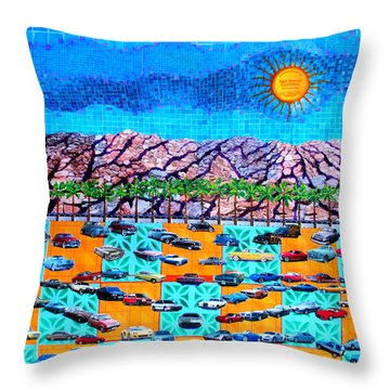 Drive 75 Palm Springs Auto Biography Throw Pillow by Randall Weidner