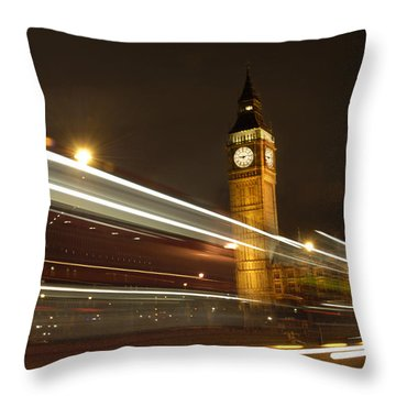 Drive By Ben - England Throw Pillow by Mike McGlothlen