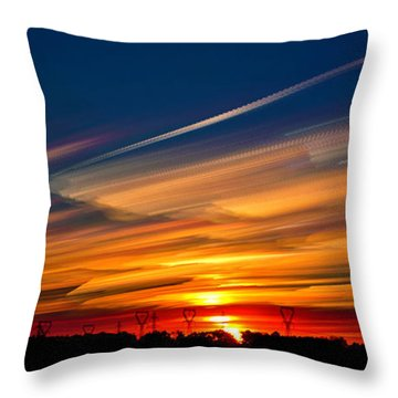 Drive By Sunset Throw Pillow