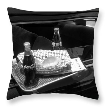 Drive-in Coke And Burgers Throw Pillow