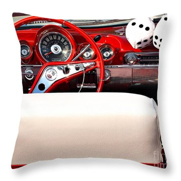 Drive-in Lounge - 1960 Chevy Throw Pillow