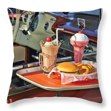 Drive-in Memories Throw Pillow by Kenny Francis