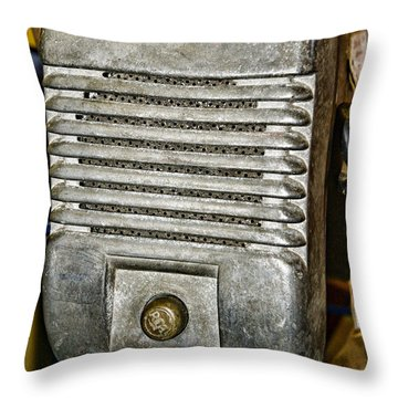 Drive In Movie Speaker Throw Pillow by Paul Ward