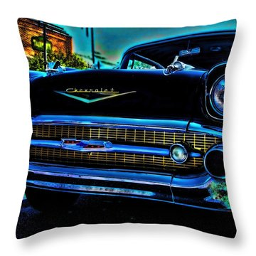 Drive In Special Throw Pillow by Lesa Fine