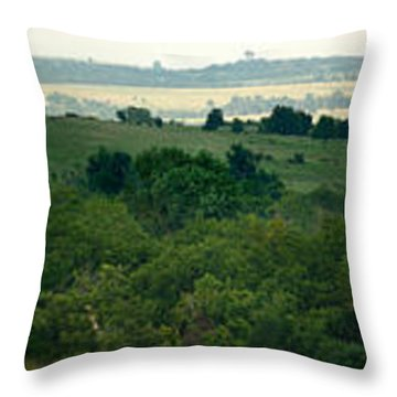 Drive The Flint Hills Throw Pillow