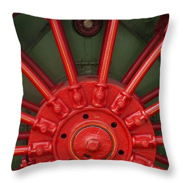 Drive Wheel Throw Pillow by Paul W Faust -  Impressions of Light