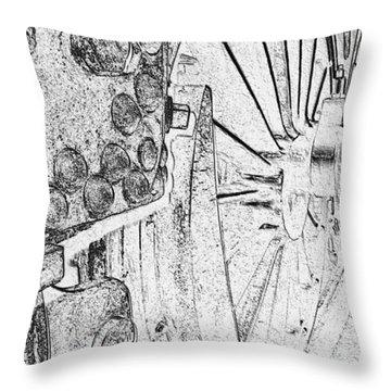 Drive Wheels Dm  Throw Pillow by Daniel Thompson