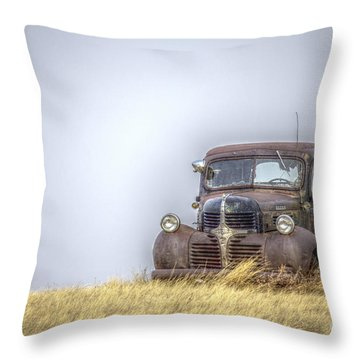 A Rusty Abandoned Truck Near Sturgis South Dakota Throw Pillow