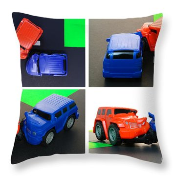 Driver's Ed Throw Pillow by Olivier Le Queinec