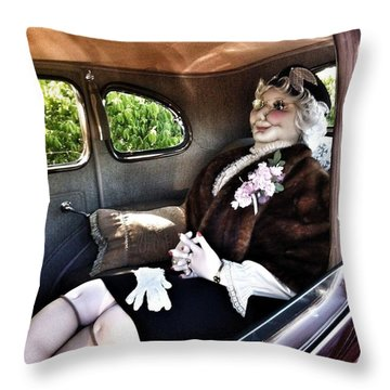 Driving Miss Daizee Throw Pillow