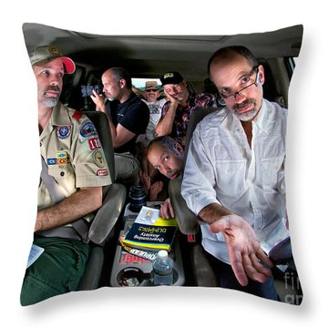 Driving Myself Crazy Throw Pillow by Mark Miller