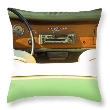 Driving With The Top Down Throw Pillow by Pamela Patch